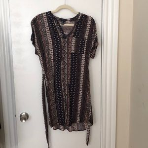 NWOT: never worn patterned t shirt dress